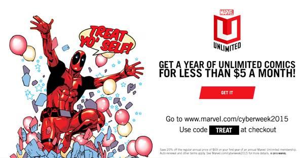 Details On Marvel Unlimited's Cyber Week Promotion