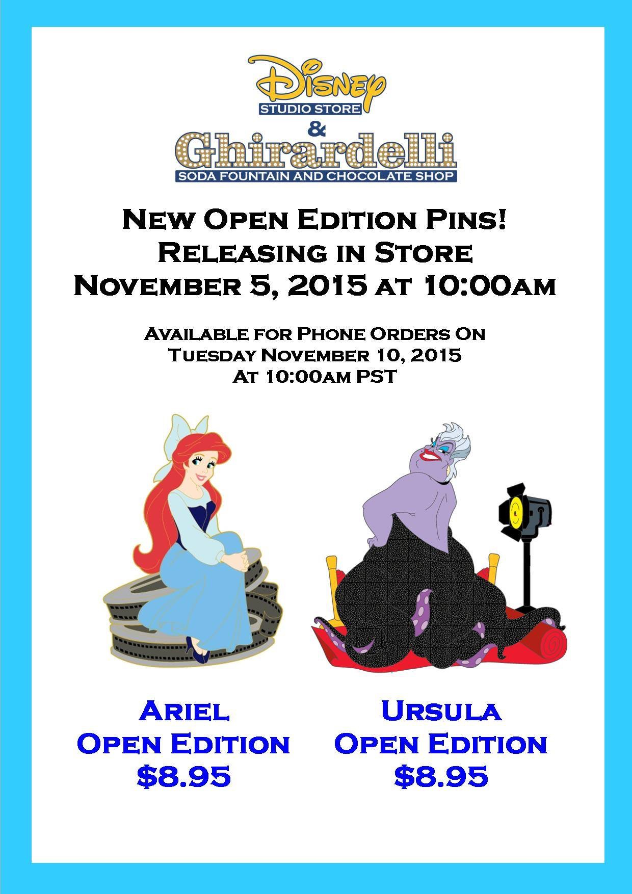 Two New Little Mermaid Pins Released Today