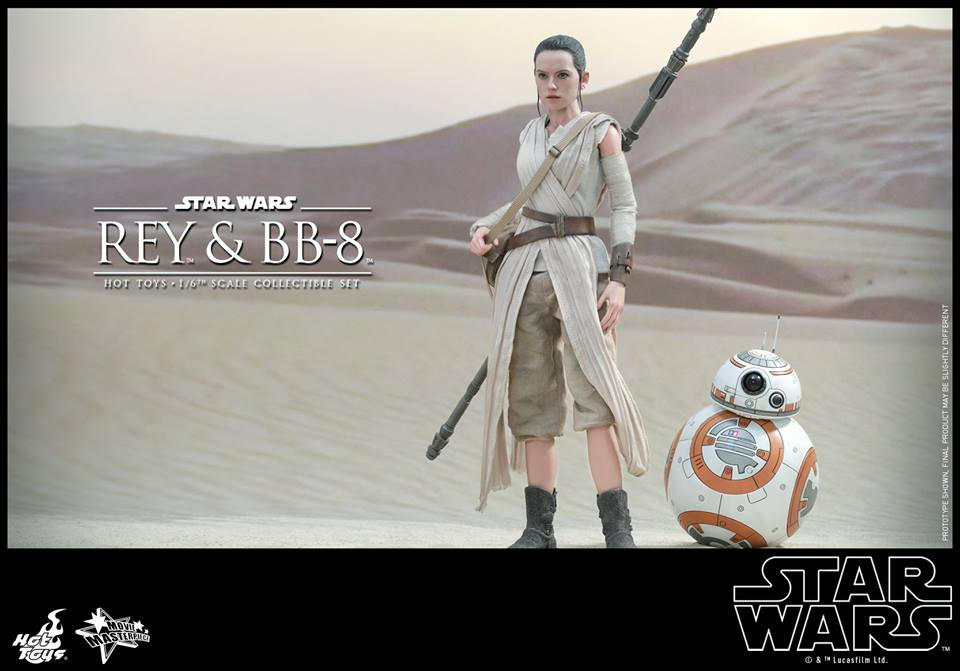 First Look At New Star Wars: The Force Awakens Rey & BB-8 Figures From Hot Toys