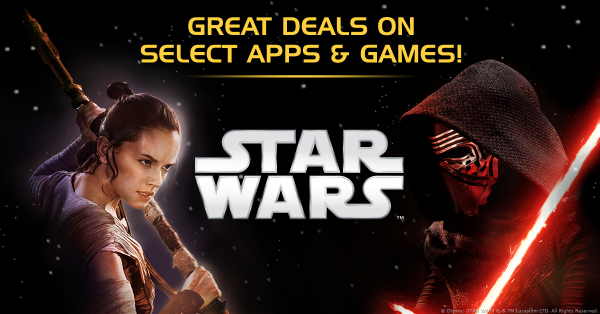 Celebrate the Release of Star Wars: The Force Awakens With Up to 66% Off Star Wars Mobile Game Content
