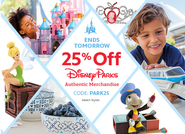 25% Off Park Authentic Items At DisneyStore.com