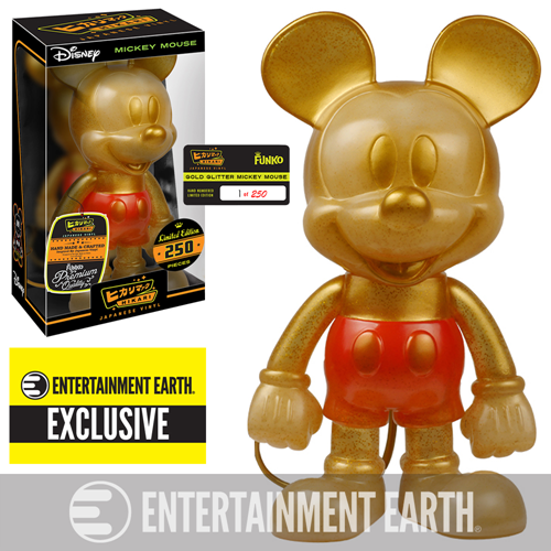 LE 250 Gold Glitter Mickey Mouse Hikari Up For Presale