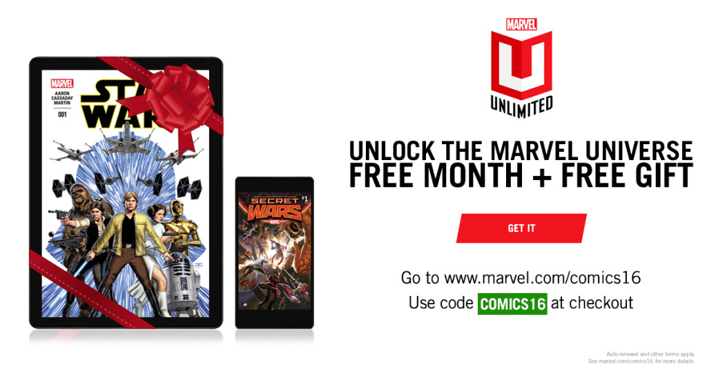 Details On Holiday Season Promotion At Marvel Unlimited ...