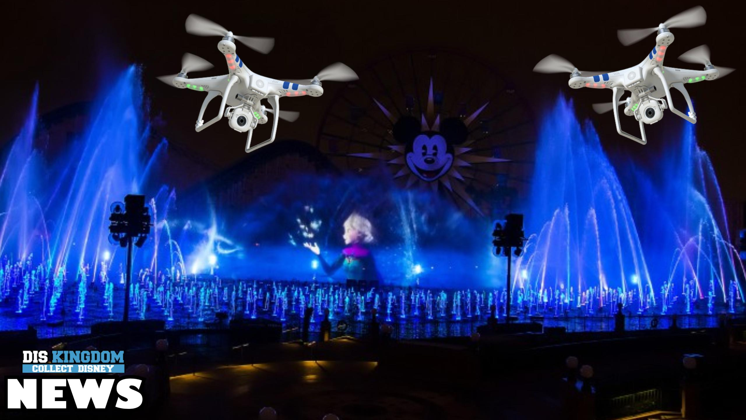 Could Drones Be Part Of Future Live Firework Shows At Disney Theme Parks?