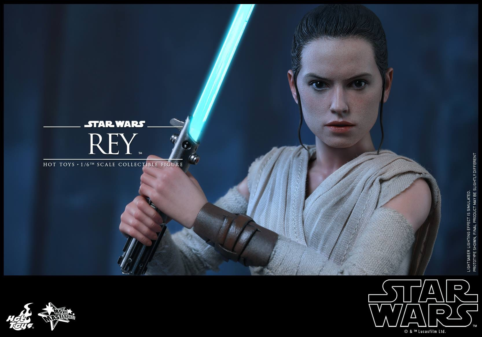 Star Wars: The Force Awakens Rey Hot Toys Figure To Include Lightsaber