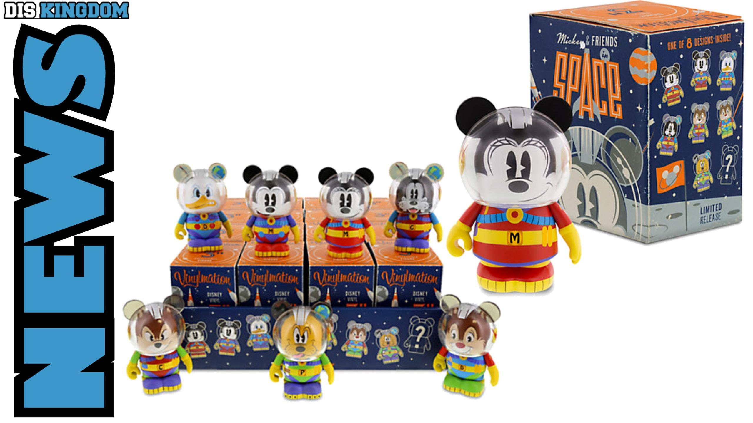 Mickey & Friends in Space Vinylmation Series Out Now