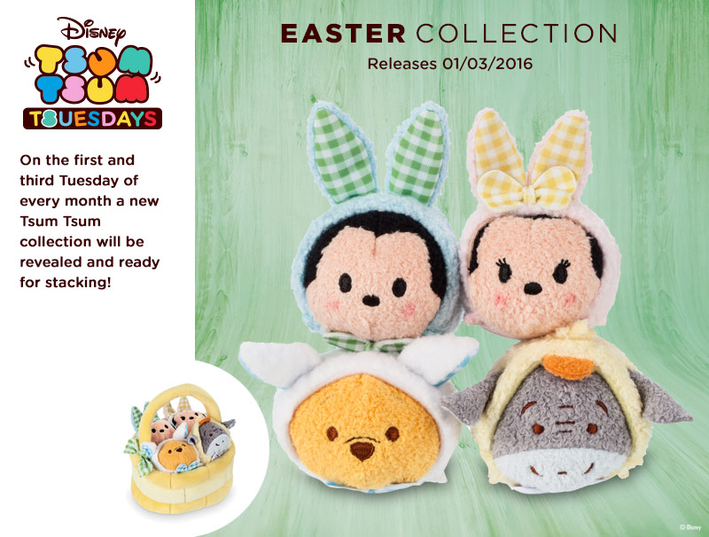 Easter Collection Tsum Tsum's Coming Soon
