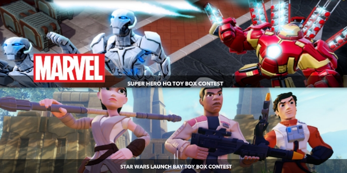 Disney Infinity Super Hero HQ And Star Wars Launch Bay Contest!