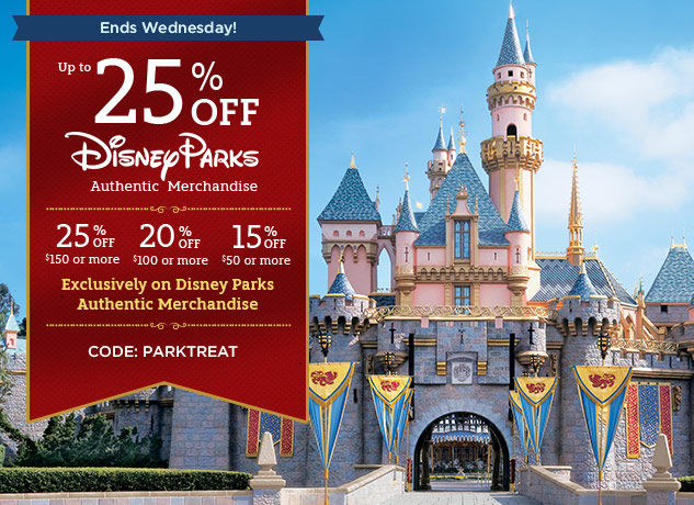 Up To 25% Off Park Authentic Items At DisneyStore.com