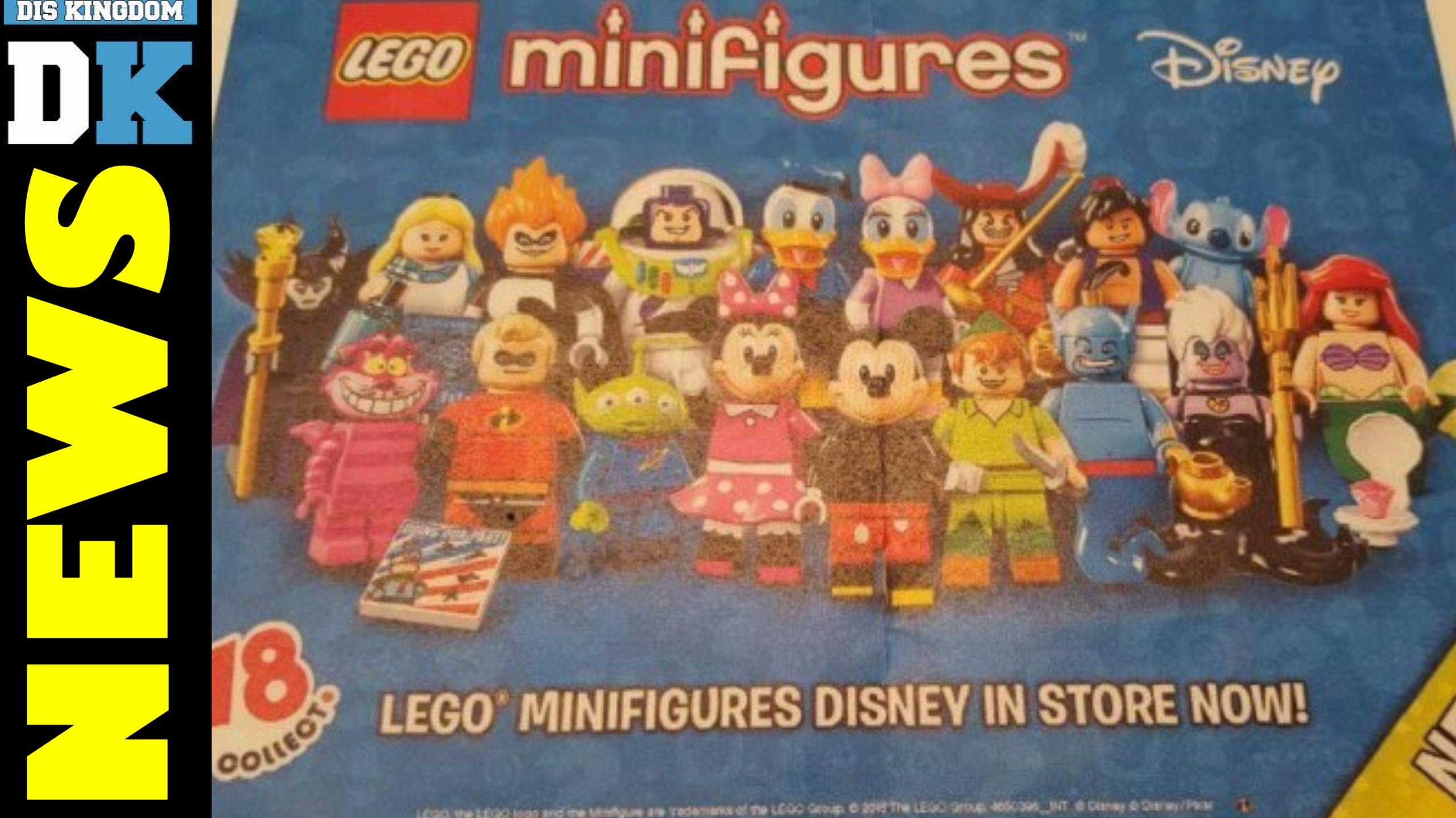 First Look At Disney LEGO Minifigure Series