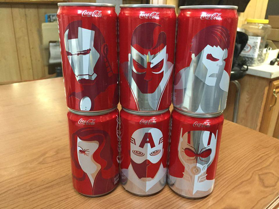 Review: Limited Edition Avengers Mini Coke Cans (Coca-Cola)