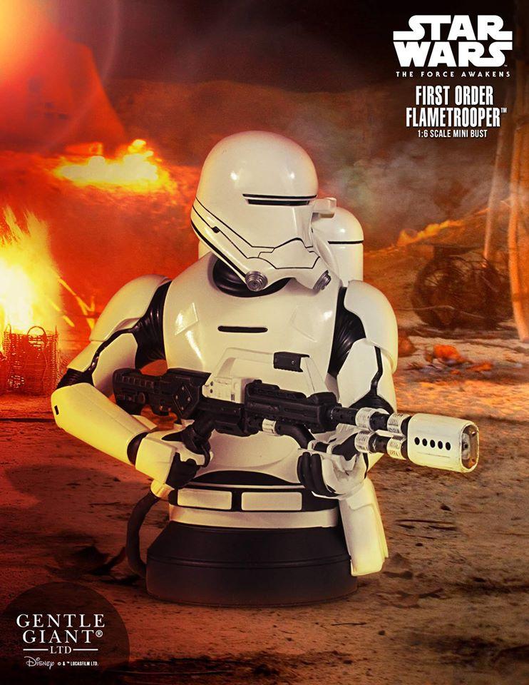 Star Wars First Order Flametrooper Mini Bust Coming Soon