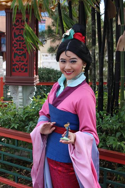 Mulan with her Disney Infinity figure, Epcot.