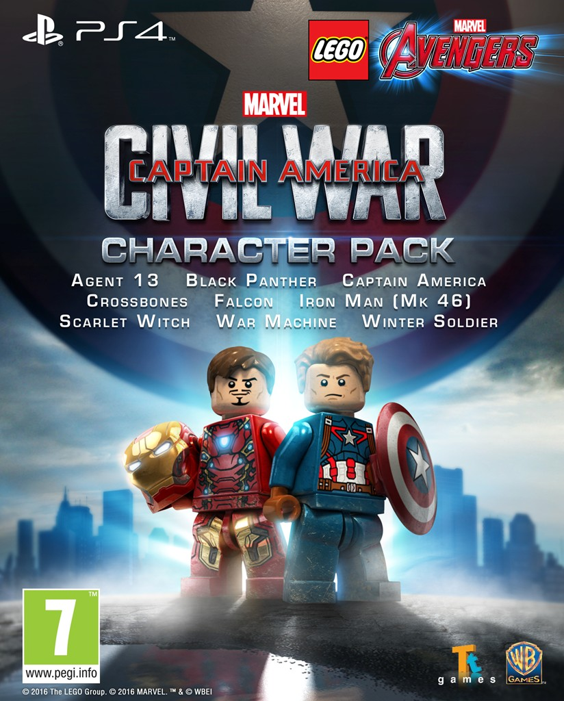 Captain America: Civil War Character Pack Out Now For LEGO Marvel Avengers