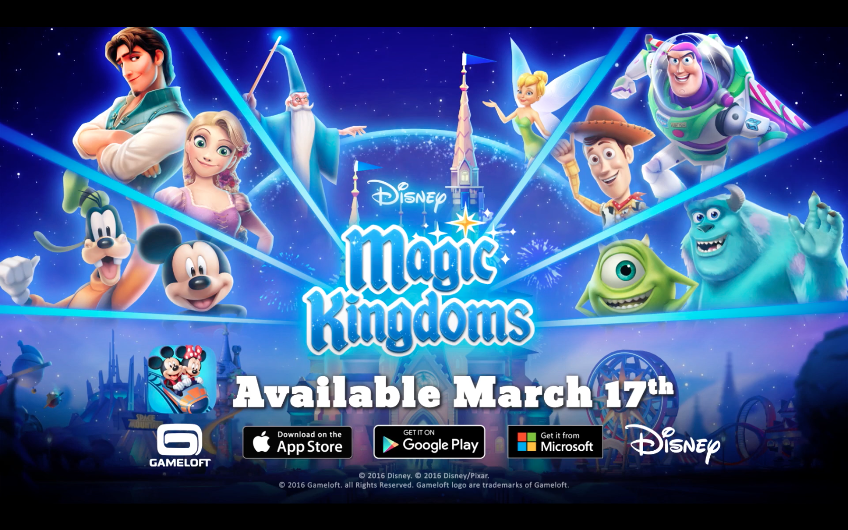 Disney Magic Kingdoms Out March 17th