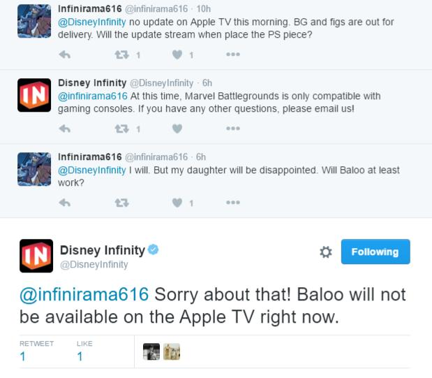 apple tv no support baloo 2