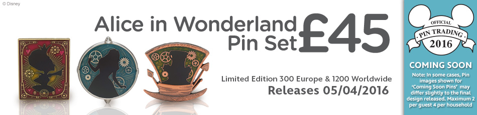 """Great Mouse Detective"" Pin & ""Alice In Wonderland"" Pin Set Coming Soon"