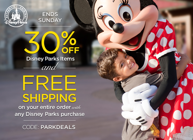 30% Off Park Authentic Items At DisneyStore.com