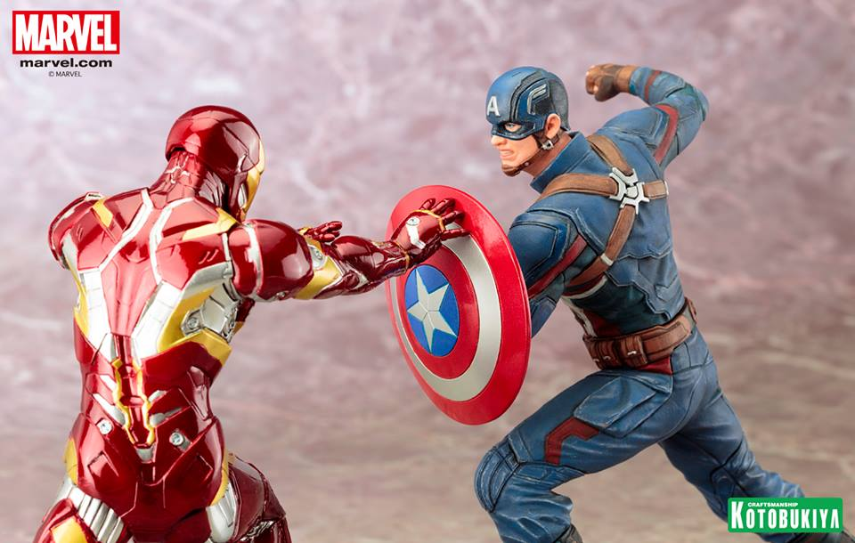 Captain America: Civil War ARTFX+ Statues Captain America & Iron Man Coming Soon