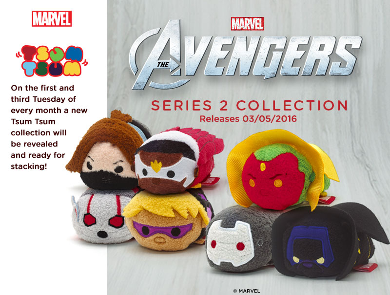 Marvel Avengers Series 2 Tsum Tsum Collection Coming Soon