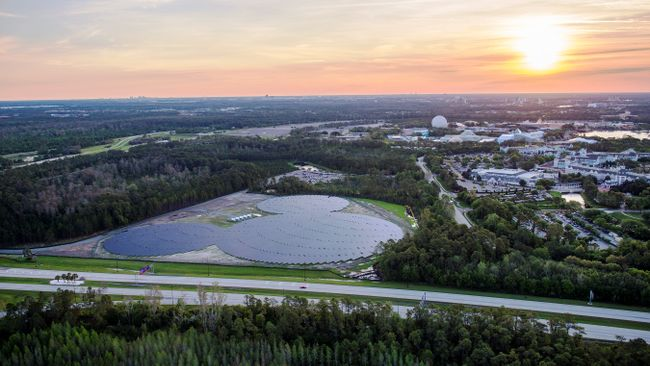 Walt Disney World Builds Hidden Mickey Shaped Solar