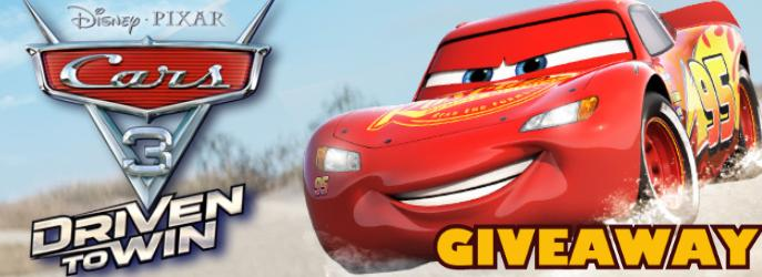 GIVEAWAY!!!  Cars 3: Driven To Win