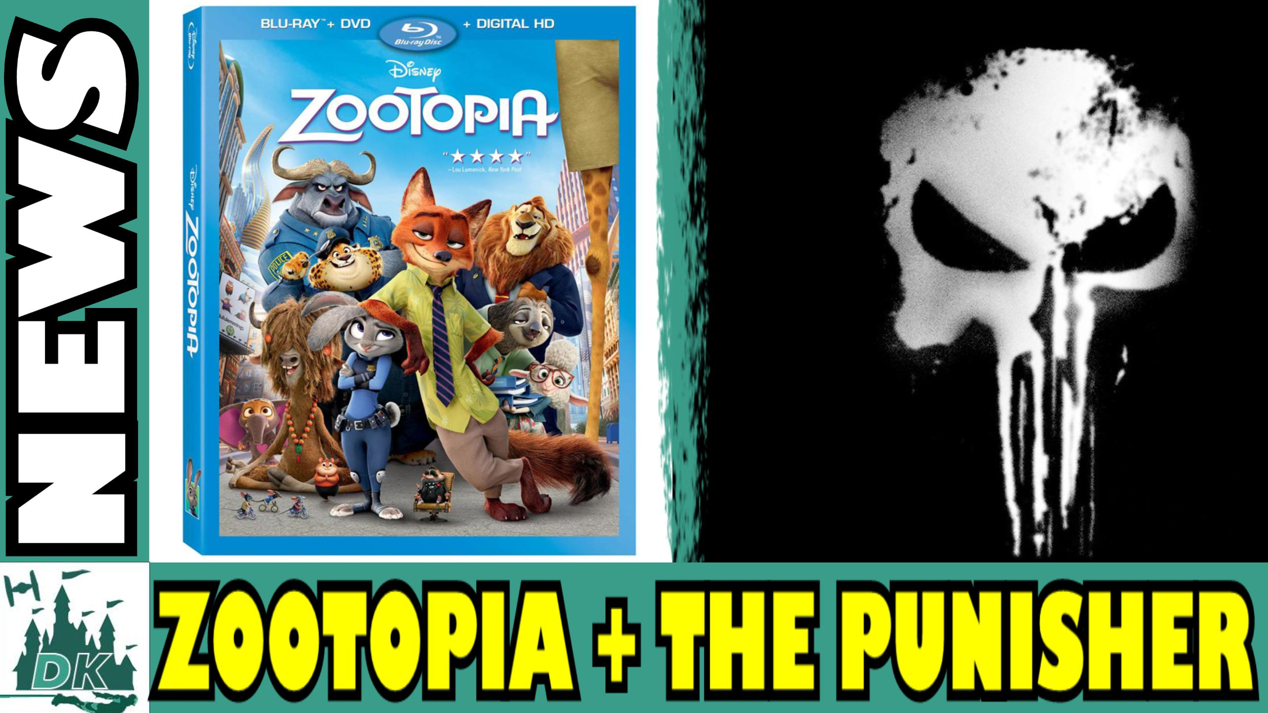 Zootopia Coming To Home Video + The Punisher Solo Netflix Series | News