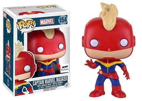 Masked Captain Marvel Pop Vinyl Coming Soon
