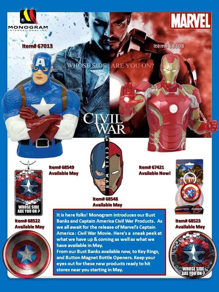 Monogram Civil War Merchandise Sneak Peek