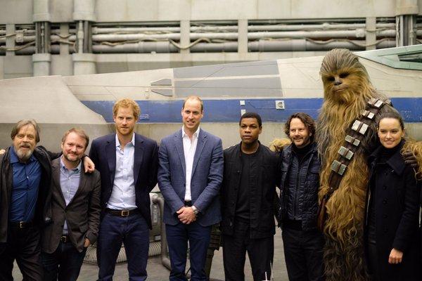 British Royals Visit Star Wars Set at Pinewood Studios