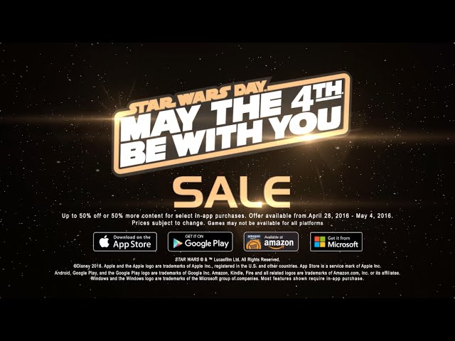 May The 4th Star Wars Mobile Gaming Sale