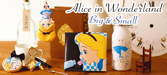 New Alice in Wonderland Big & Small Collection from Disney Store Japan!!!