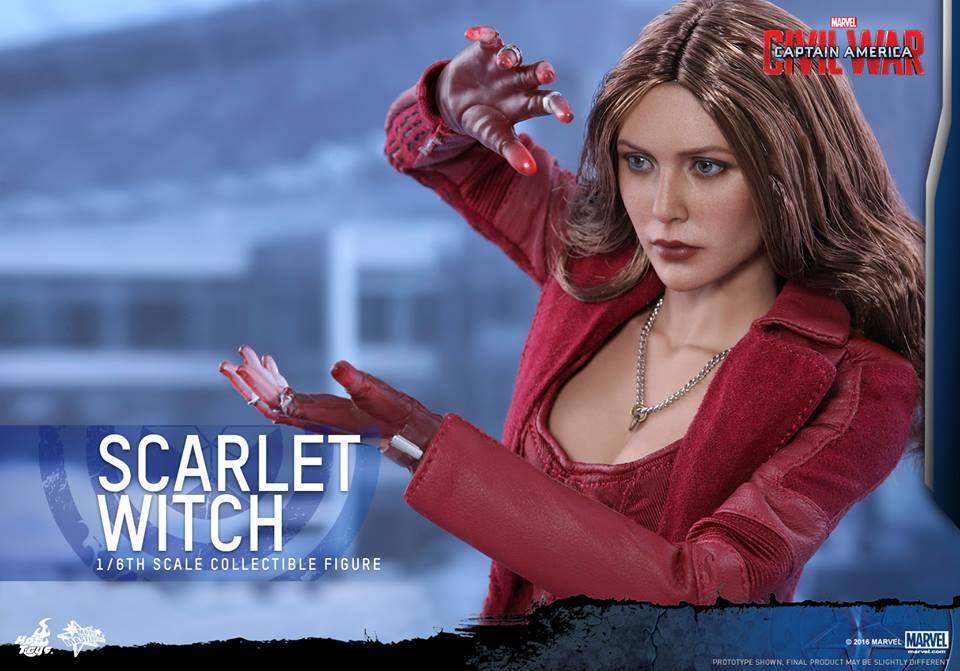 Civil War Scarlet Witch Hot Toys Figure Coming Soon
