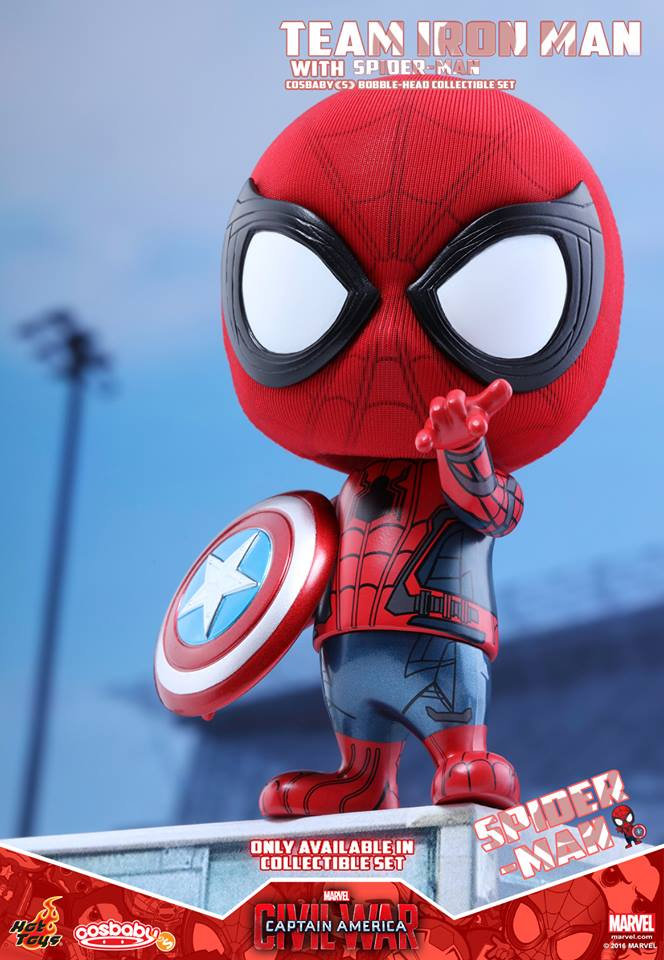 Civil War – Team Iron Man With Spider-Man Cosbaby Set Coming Soon