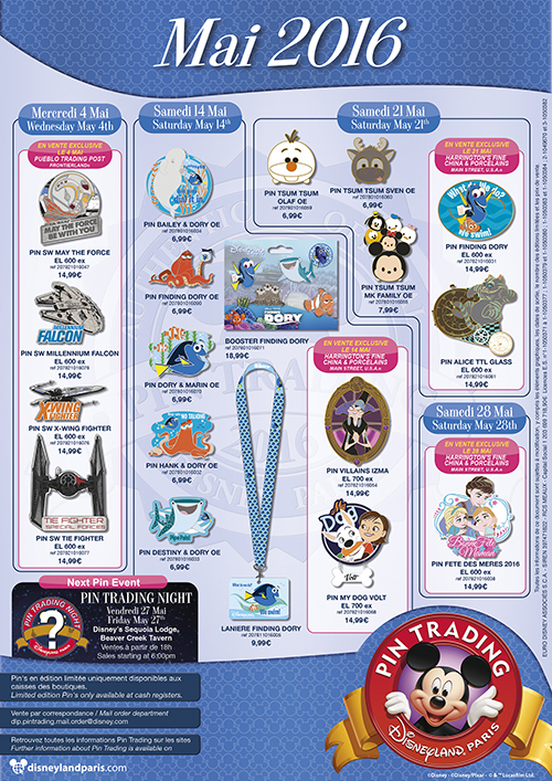 Disneyland Paris May Pin Releases