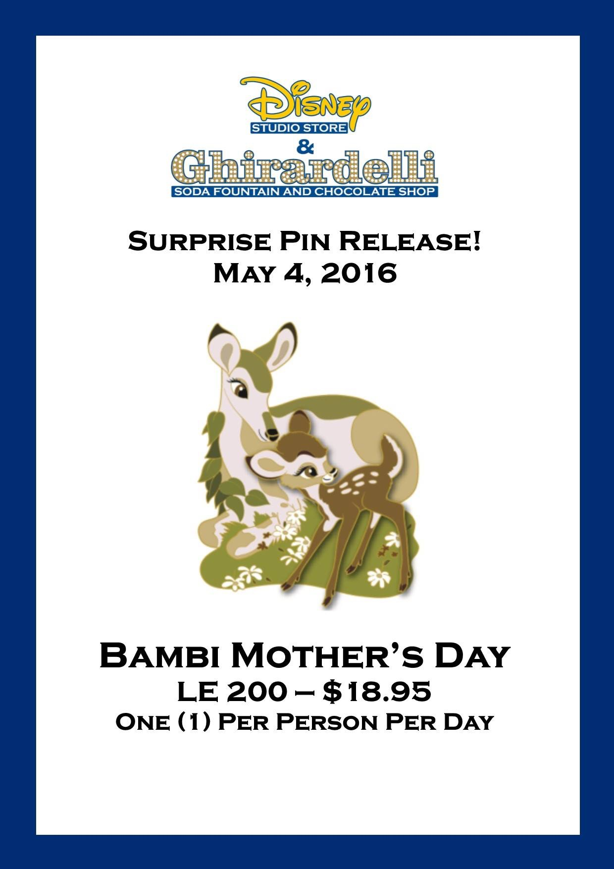Surprise Bambi Mother's Pin Released