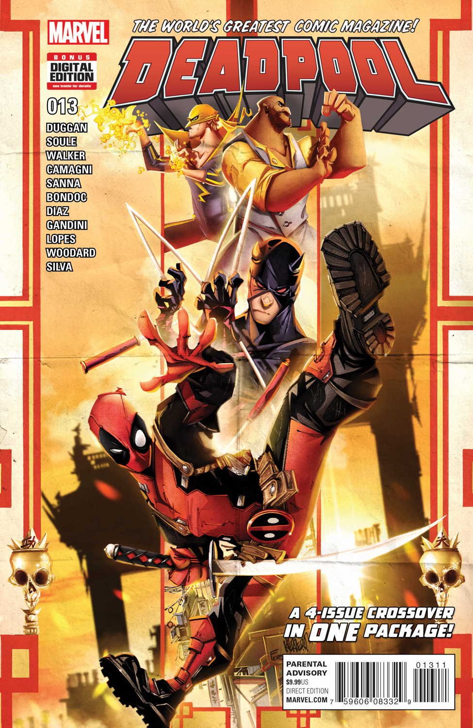 A Four-Part Crossover in One Issue – Your First Look at DEADPOOL #13!