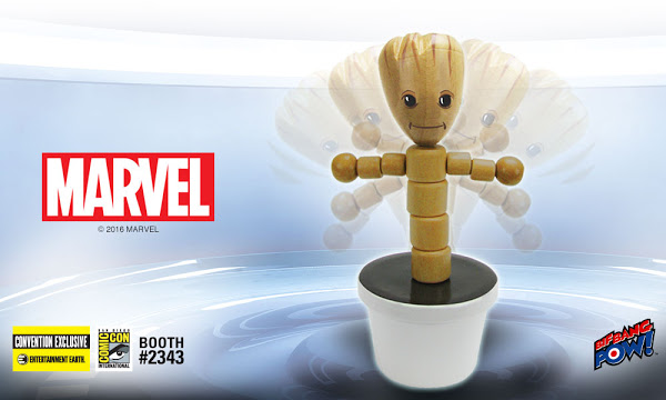 SDCC Reveal: Limited Edition Groot Wooden Push Puppet (Entertainment Earth)