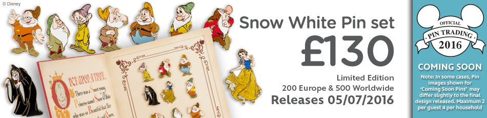 Snow White Pin Set Coming Soon