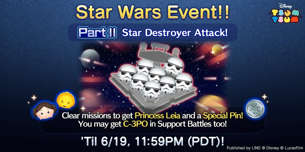 Star Wars Event Part II Comes To Disney Tsum Tsum
