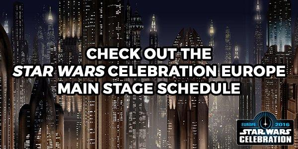 Star Wars Celebration Main Stage Schedule Announced