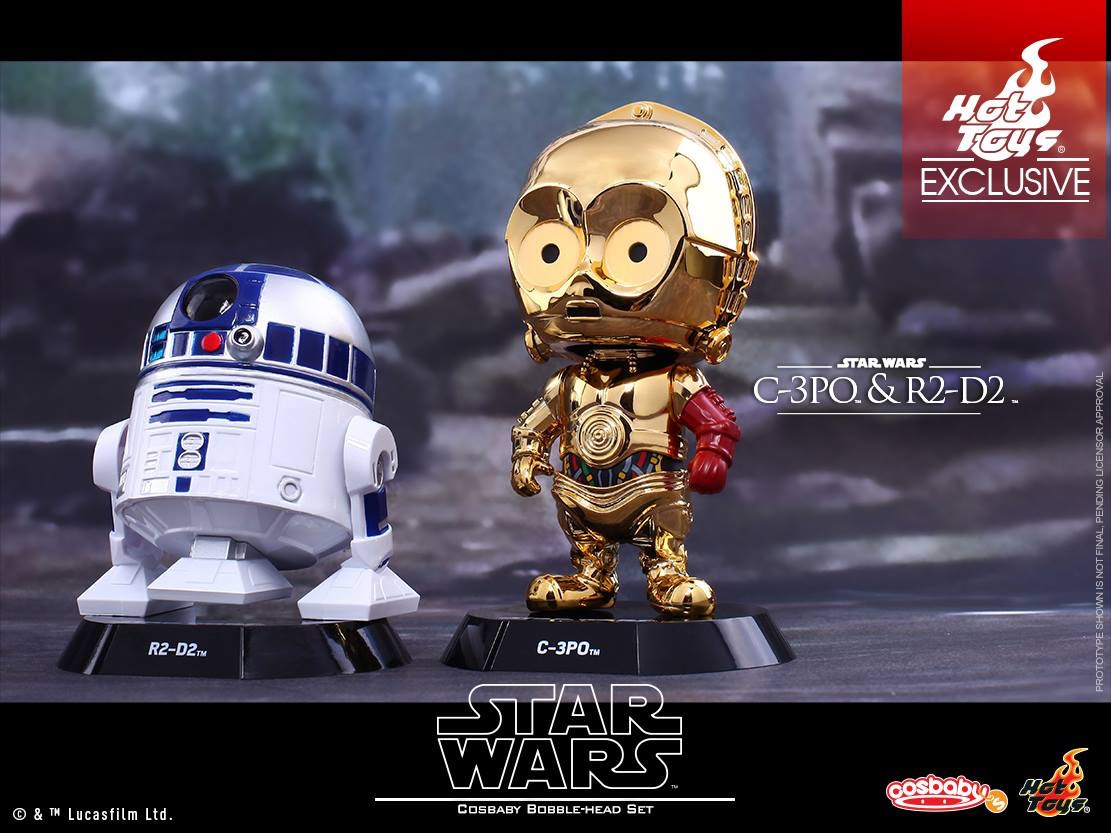 Star Wars:TFA – C-3PO & R2-D2 Cosbaby Bobble-Head Collectible Set Coming Soon