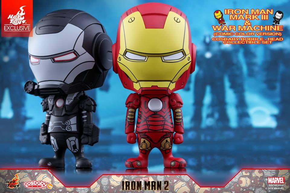 Iron Man Mark III & War Machine Cosbaby Set Coming Soon
