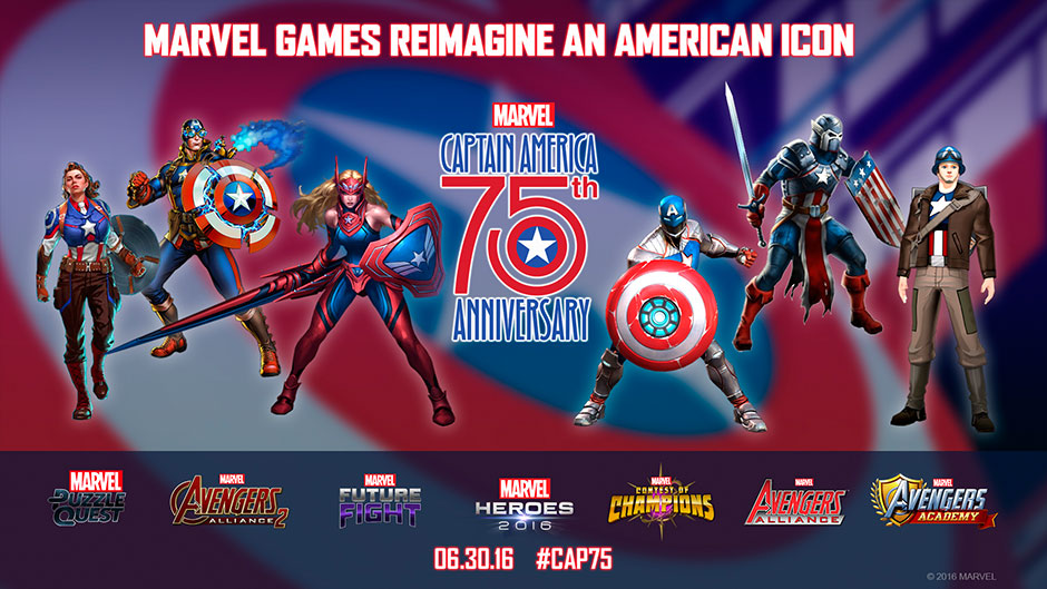 Marvel Games Celebrate 75 Years Of Captain America