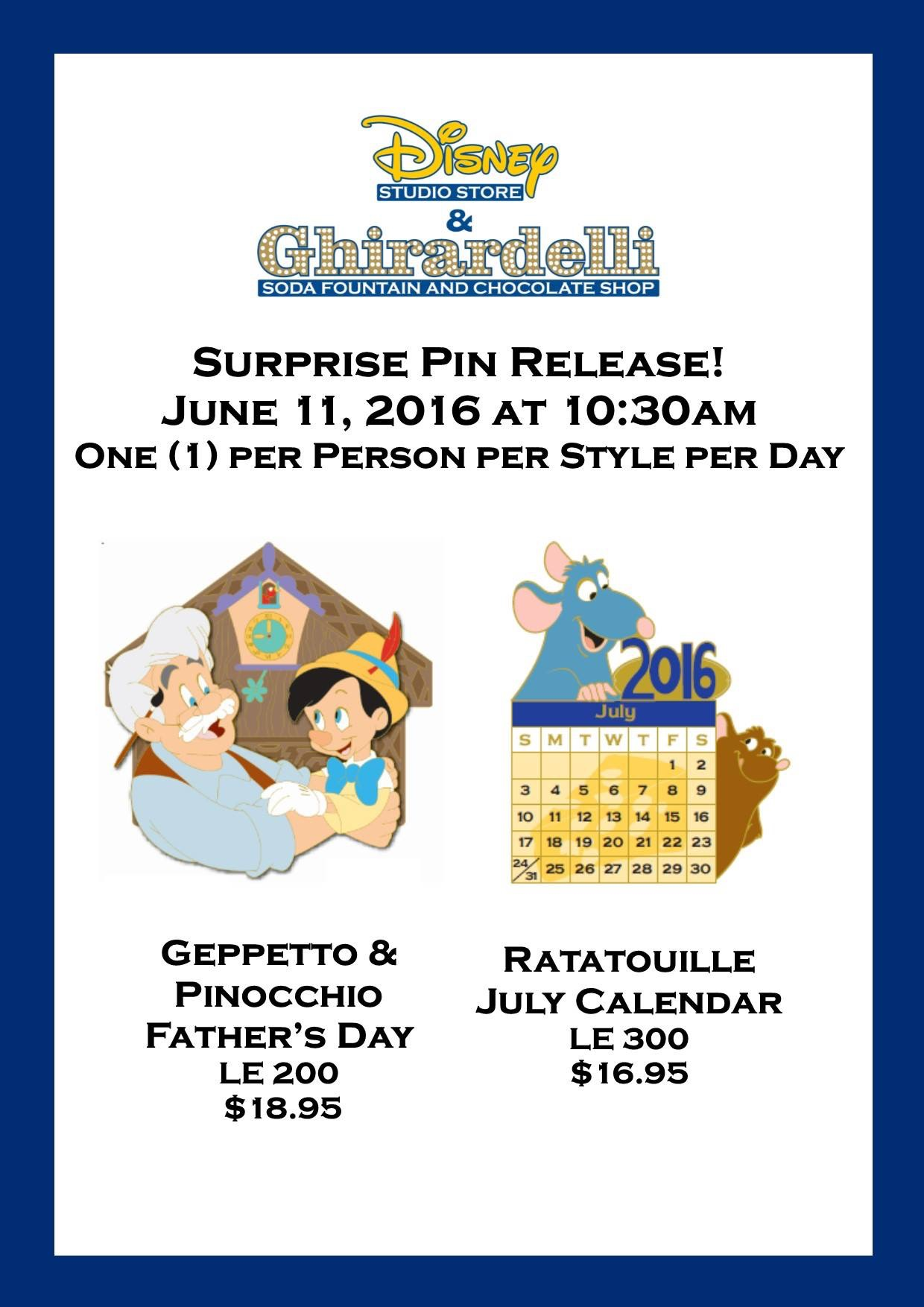 Two Surprise Pins Released Today
