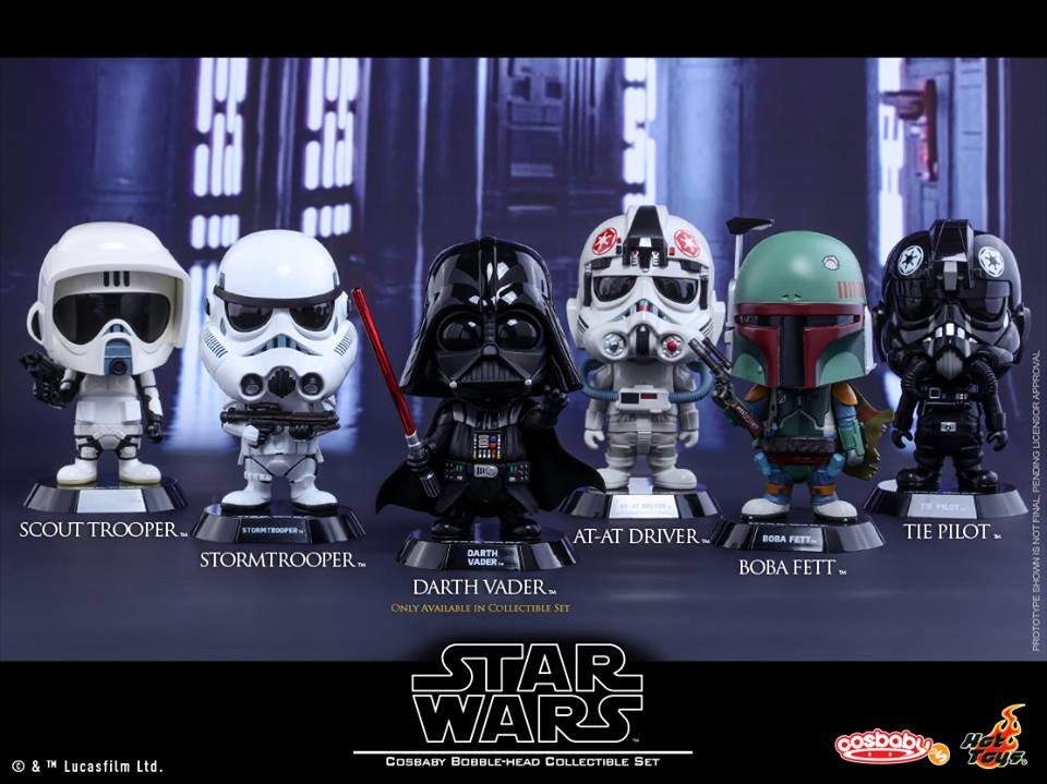 Hot Toys – Star Wars Cosbaby Bobble-head Collectible Set Coming Soon