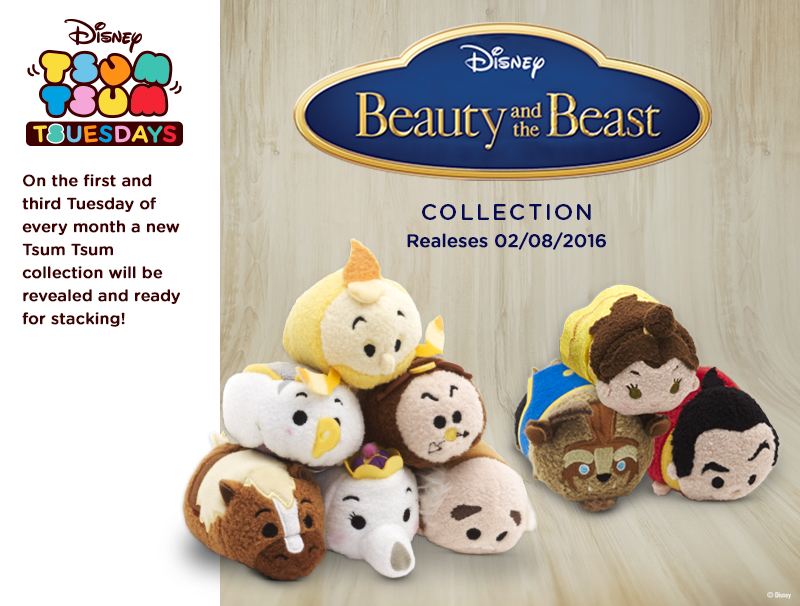 Beauty & The Beast Tsum Tsum Collection Coming Soon