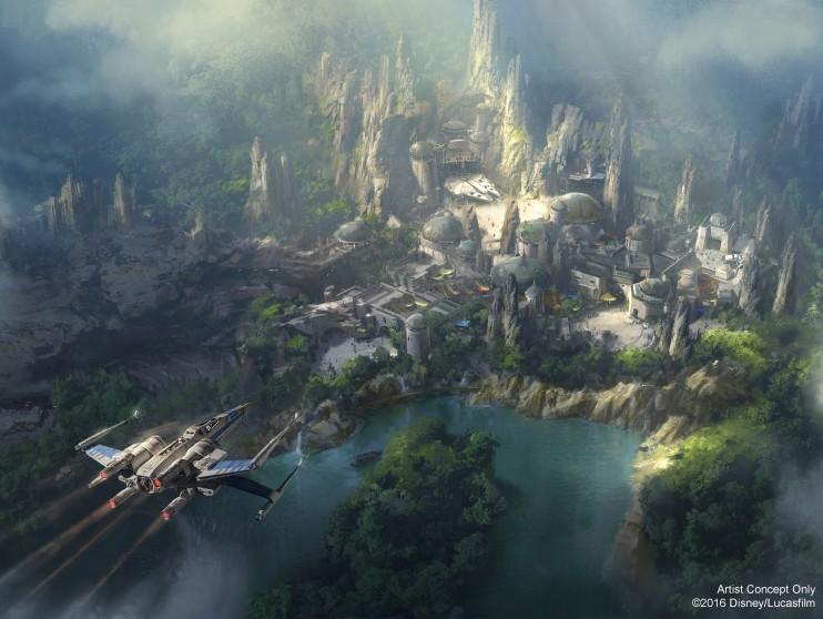 New Artwork Revealed For Star Wars-Themed Land At Disneyland
