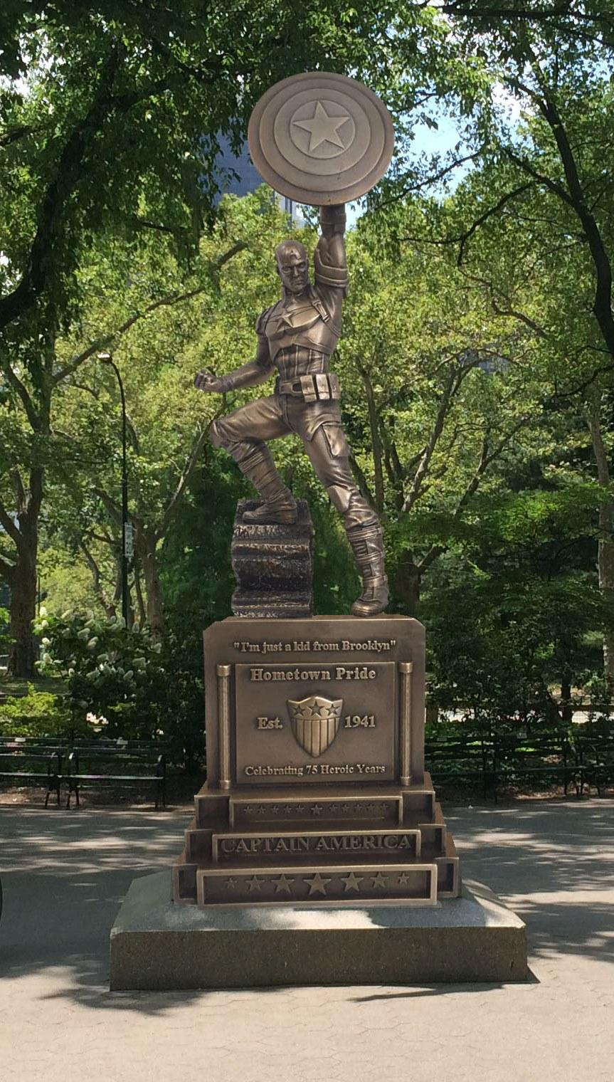 Marvel Unveil New Captain America Statue To Celebrate 75 Anniversary