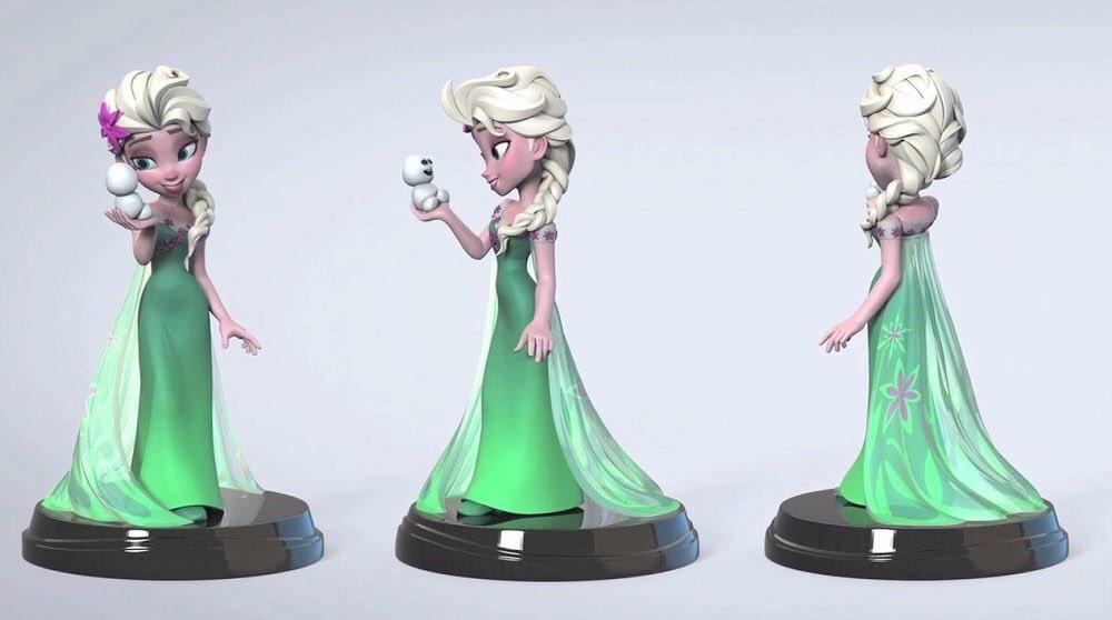 Cancelled Frozen Fever Elsa Disney Infinity Premium Format